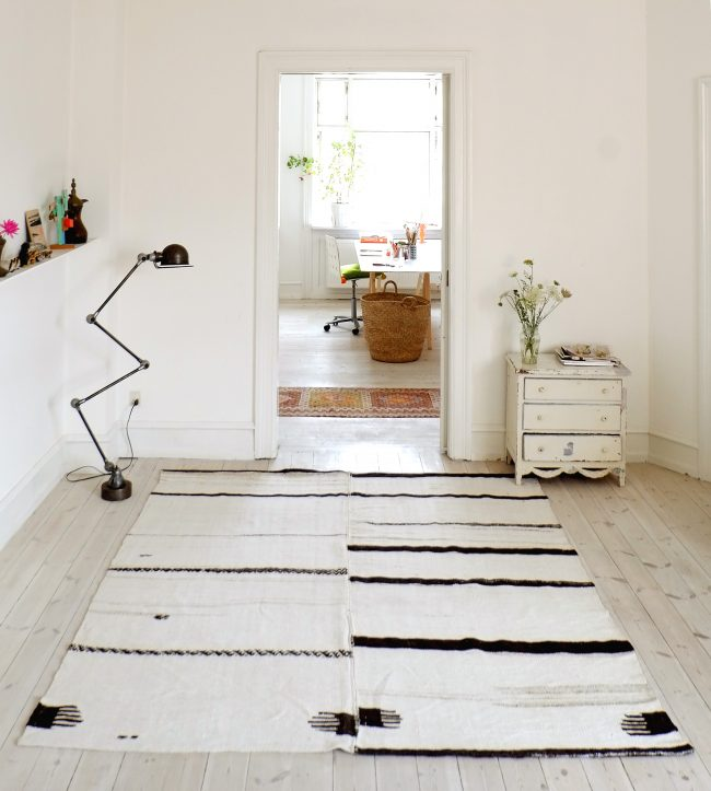 Turkish nomad rug in nordic interior