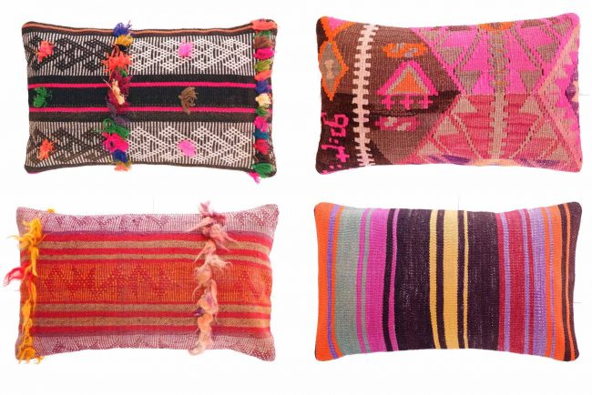 turkish vintage kilim cushions